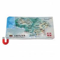 Magnet with 3D Lithuania Map, 94 x 62mm