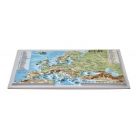 Postcard – 3D Raised Relief Map, Europe