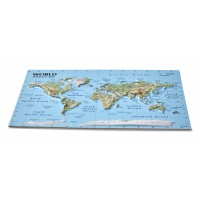 Postcard – 3D Raised Relief Map, World