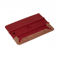 SEMI-SOFT SIMPLE SQUEEGEE WITH TEFLON PROTECTOR