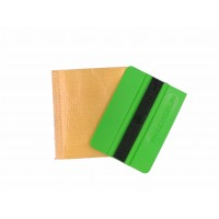 """EASY STICK"" squeegee 4"" (soft green) with double TEFLON protector"