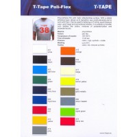 T-Tape Poli-Flex  Premium color card