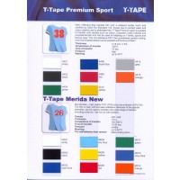 T-Tape Premium Sport color card