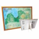 3D карта Латвии в рамке, A3 (420 x 297mm)