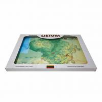 3D карта Литвы в подарочной упаковке, A3 (420 x 297mm)