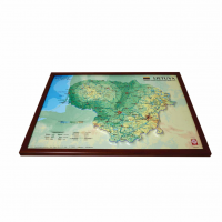 3D карта Литвы в рамке, A3 (420 x 297мм)