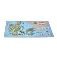 Открытка с 3D картой Дании, 170 x 120мм