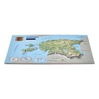 Открытка с 3D картой Эстонии, 170 x 120мм