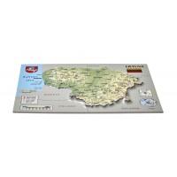 Открытка с 3D картой Литвы, 170 x 120мм
