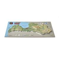 Открытка с 3D картой Латвии, 170 x 120мм