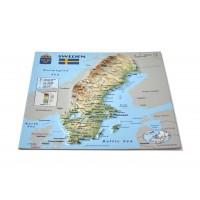 Открытка с 3D картой Швеции, 170 x 120мм