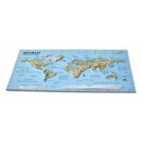 Открытка с 3D картой Мира, 170 x 120мм