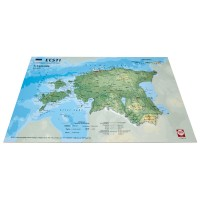 3D Map of Estonia, A4 (297 x 210mm)
