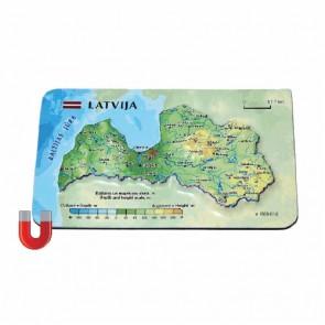 Magnēts ar Latvijas 3D karti