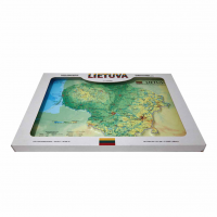 Lietuvas 3D Karte, A3 (420 x 297mm, iepakota dāvanu kastē)