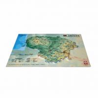 Lietuvas 3D Karte, A4 (297 x 210mm)