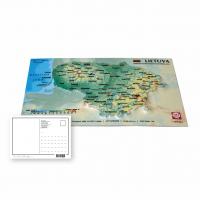 Pastkarte ar Lietuvas 3D karti, 170 x 120mm