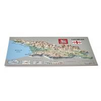 Pastkarte ar Gruzijas 3D karti, 170 x 120mm
