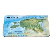 Magnēts ar Igaunijas 3D karti, 94 x 62mm