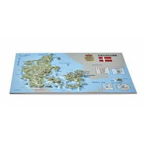 Postcard – 3D Raised Relief Map, Denmark