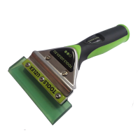 GHS PU SQUEEGEE WITH HANDLE, SOFT GREEN, 110 mm