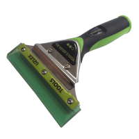 GHS PU SQUEEGEE WITH HANDLE, SOFT GREEN, 140 mm