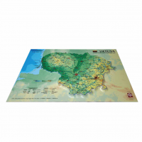 3D Map of Lithuania, A3 (420 x 297mm)