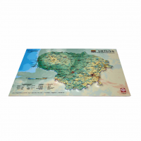 3D Map of Lithuania, A4 (297 x 210mm)
