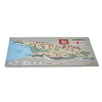 Postcard – 3D Raised Relief Map, Georgia