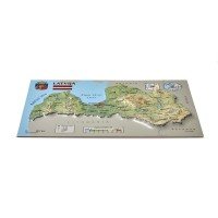 Postcard – 3D Raised Relief Map, Latvia