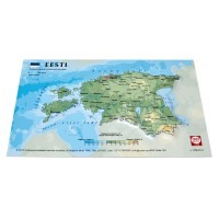 Postcard with 3D map of Estonia, 170 x 120mm