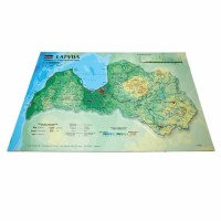 Latvia 3D Map, A3 (420 x 297mm)
