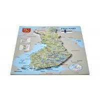Pastkarte ar Somijas 3D karti, 170 x 120mm